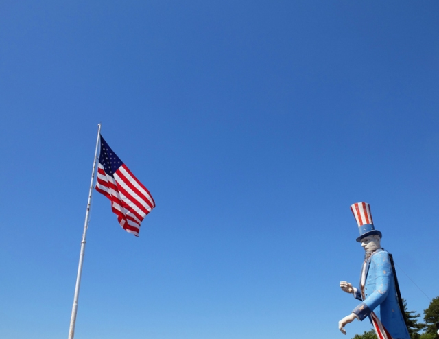 Uncle Sam and flag NYstate - web
